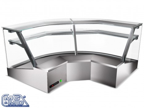 Banco frigo vetrina refrigerata ad angolo