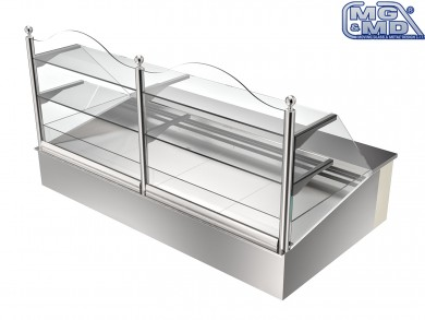 Banco frigo vetrina refrigerata stile vintage