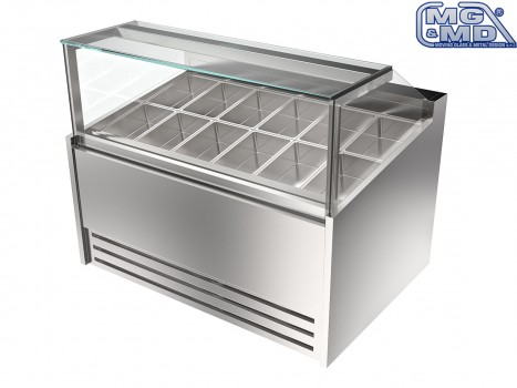 vetrina refrigerata per gelateria professionale