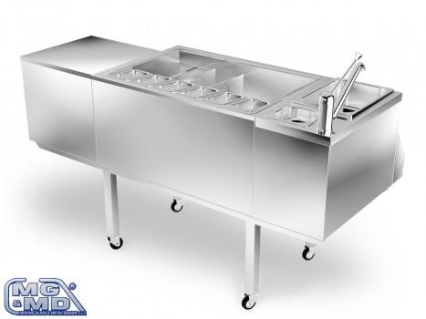 modulo refrigerato per cocktail