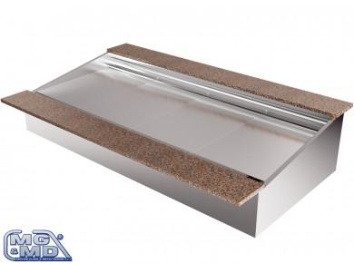 vasca refrigerata con porta posteriore alzata
