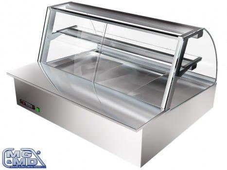 Banco frigo vetrina refrigerata con piano espositivo rialzato