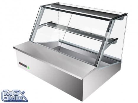 Banco frigo vetrina refrigerata con due ripiani