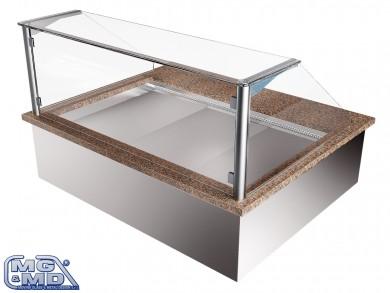 Banco frigo vetrina refrigerata per teglie e vassoi