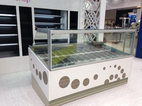 Vetrina gelato refrigerata ventilata